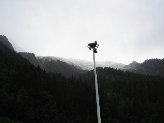 Schnee am Mont Blanc Tunnel