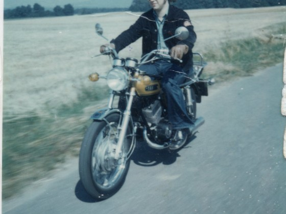 1973 - erstes Moped Jamaha DS 7