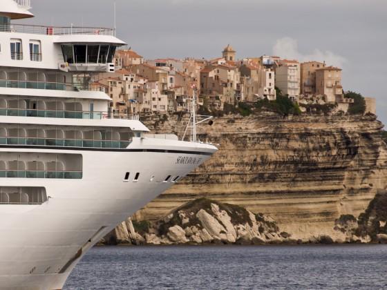 Bonifacio - mit der Fähre von Korsika nach Sardinien übergesetzt