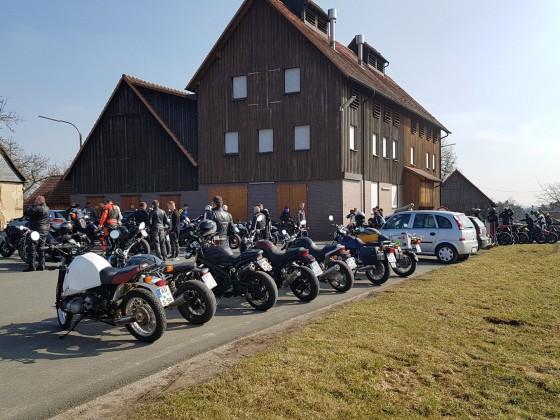 25.03. 1. Ausfahrt zu Kathi Bräu, Aufsess
